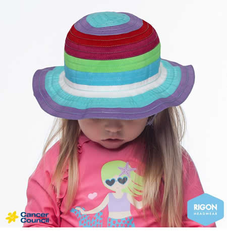 B34 Girls Multi Ribbon Hat