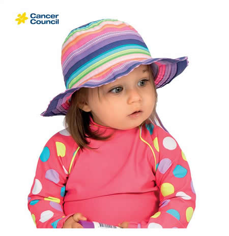 B702 Olivia Toddler Ribbon Bucket Hat